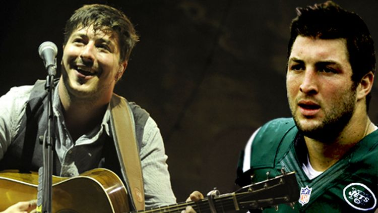 Marcus Mumford and Tim Tebow