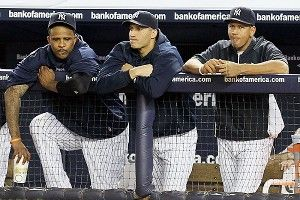 CC Sabathia, Andy Pettitte, and Alex Rodriguez