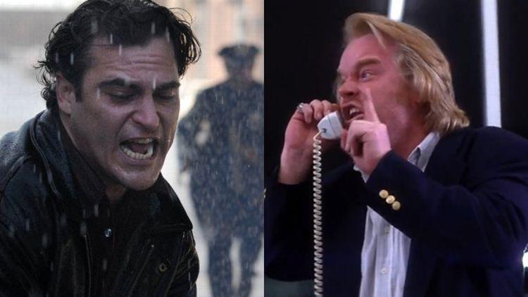 Joaquin Phoenix and Phillip Seymour Hoffman