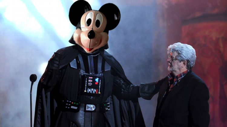 Darth Vader and George Lucas