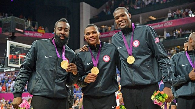 James Harden, Russell Westbrook & Kevin Durant