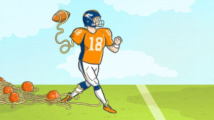 Peyton Manning illustration