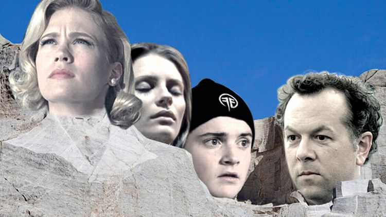 Bad TV Character Mount Rushmore