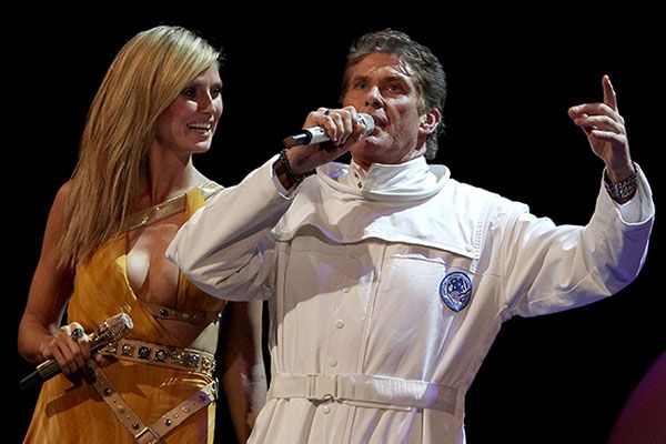 Heidi Klum and David Hasselhoff