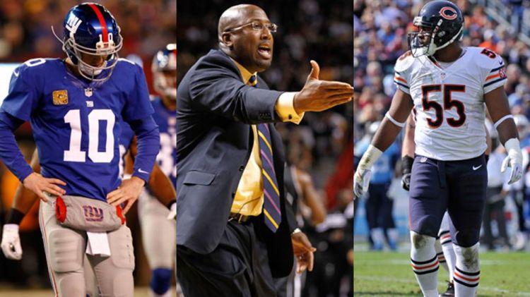 Eli Manning, Mike Brown, Lance Briggs