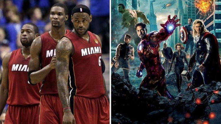 Dwyane Wade, Chris Bosh, LeBron James