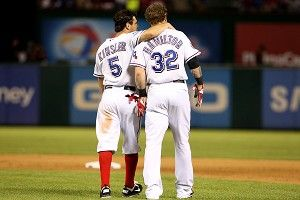 Ian Kinsler and Josh Hamilton