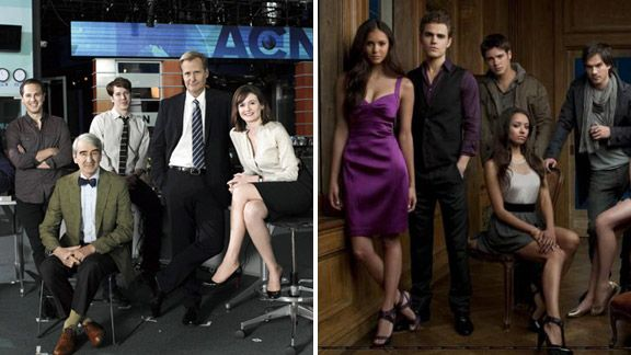 The Newsroom and The Vampire Diaries