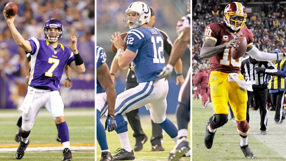 Andrew Luck, Christian Ponder, Robert Griffin III