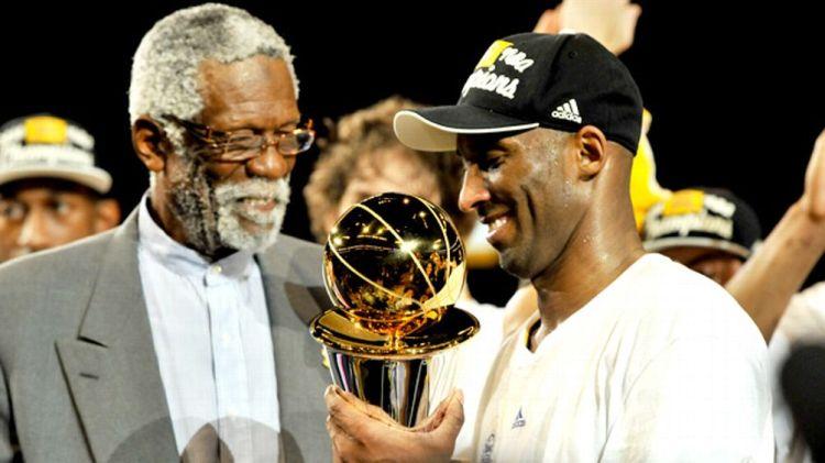 Bill Russell, Kobe Bryant
