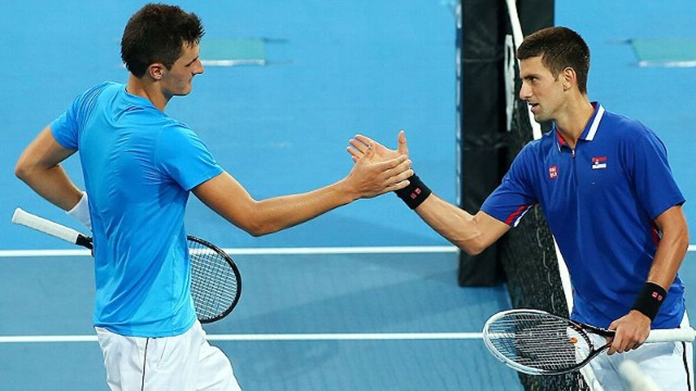 Bernard Tomic, Novak Djokovic