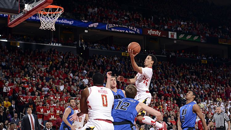 Seth Allen #4 of the Maryland Terrapins