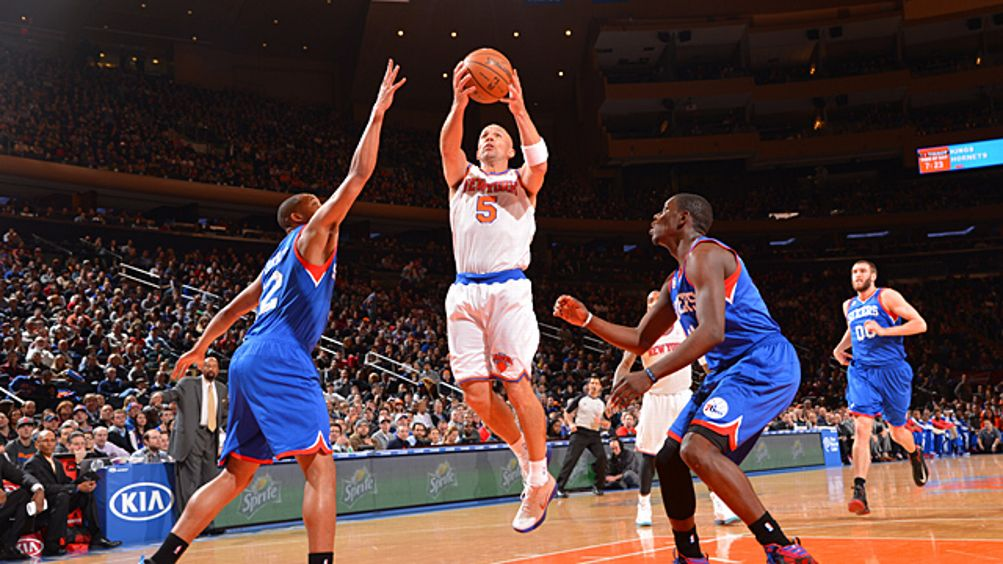 Jason Kidd #5 of the New York Knicks