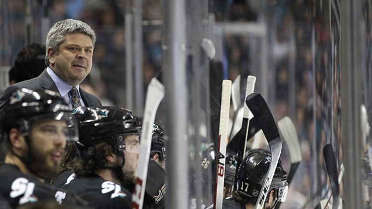 Head coach Todd McLellan of the San Jose Sharks