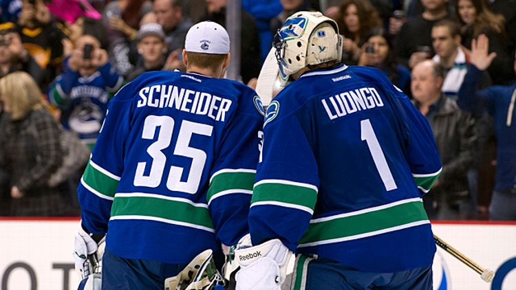Roberto Luongo and Cory Schneider of the Vancouver Canucks