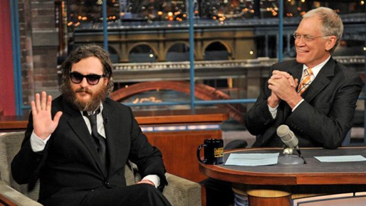 Joaquin Phoenix on The Late Show with David Letterman