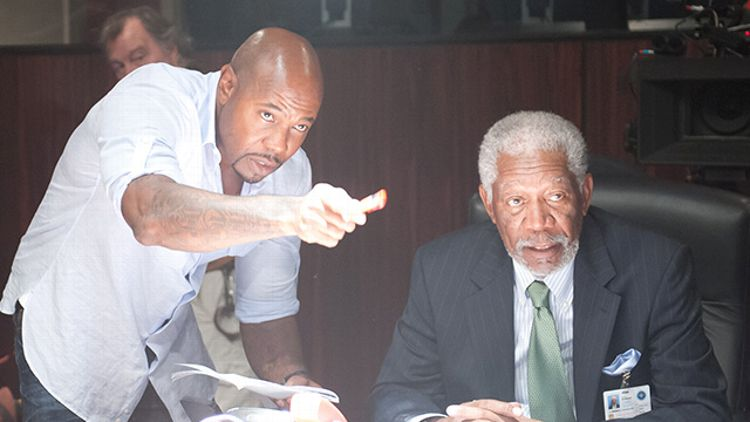 Antoine Fuqua and Morgan Freeman
