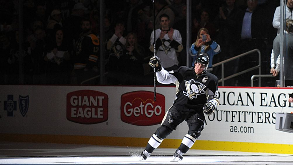 Sidney Crosby # 87 of the Pittsburgh Penguins
