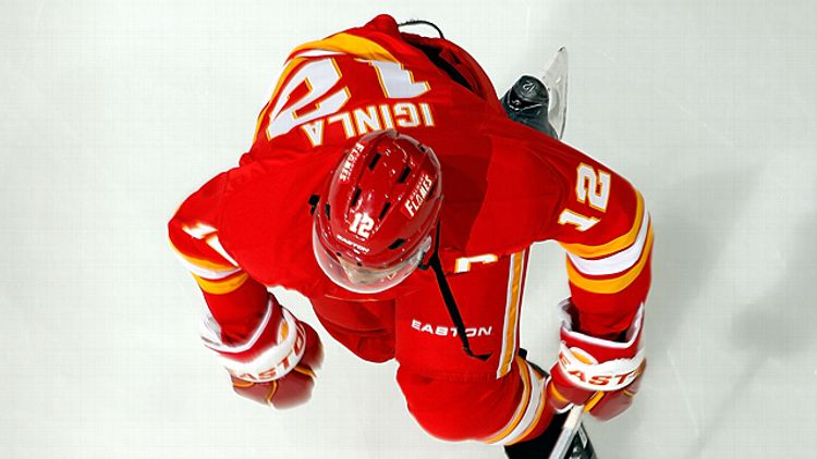 Jarome Iginla #12 of the Calgary Flames