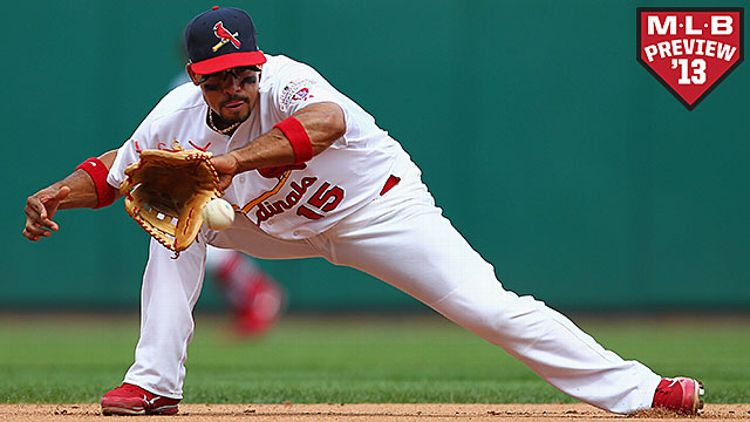 Rafael Furcal #15 of the St. Louis Cardinals fields a ground ball against the Pittsburgh Pirates at Busch Stadium on August 19, 2012 in St. Louis, Missouri. The Pirates beat the Cardinals 6-3 in 19 innings.