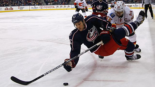 Dalton Prout #47 of the Columbus Blue Jackets