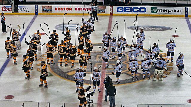 The Boston Bruins and Buffalo Sabres