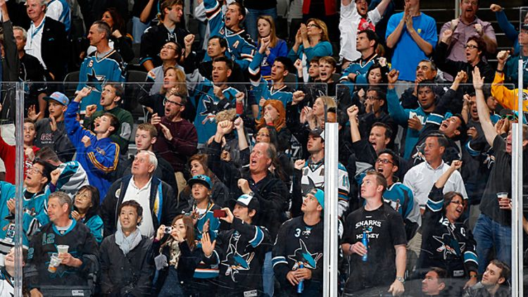 San Jose Sharks as they face the Columbus Blue Jackets