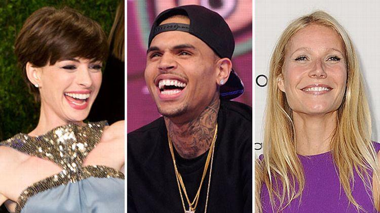 Anne Hathaway, Chris Brown, Gwyneth Paltrow