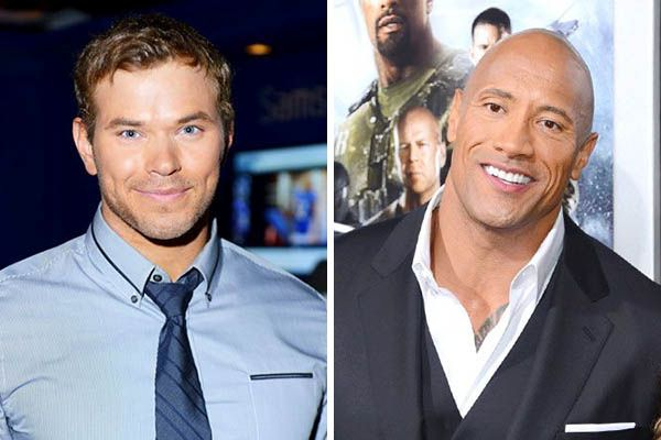 Kellan Lutz and The Rock
