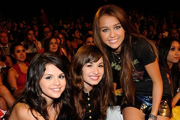 Selena Gomez, Demi Lovato, and Miley Cyrus