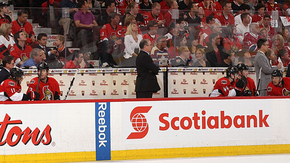 Head coach Paul MacLean of the Ottawa Senators