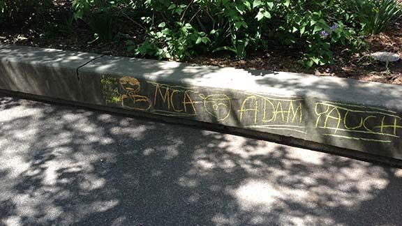 Sidewalk at Adam Yauch Park