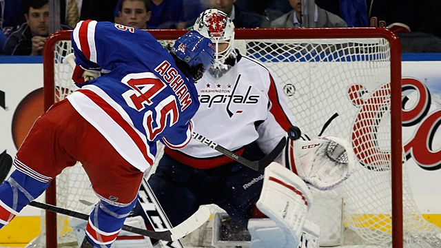Arron Asham #45 of the New York Rangers