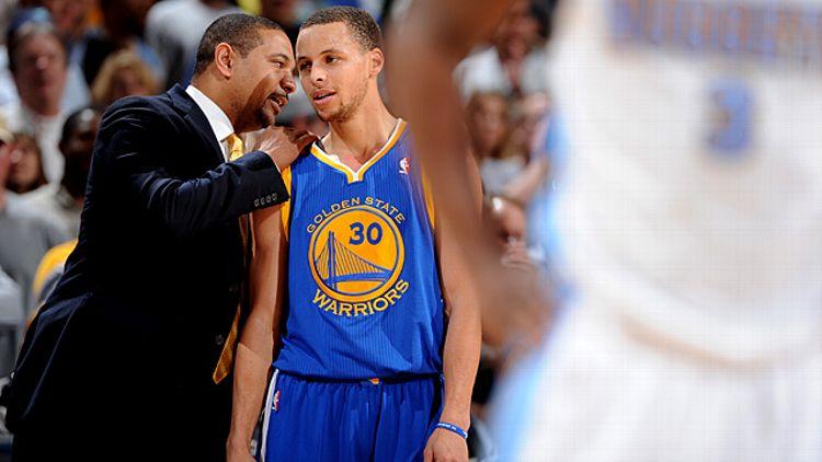 Stephen Curry and Head Coach Mark Jackson