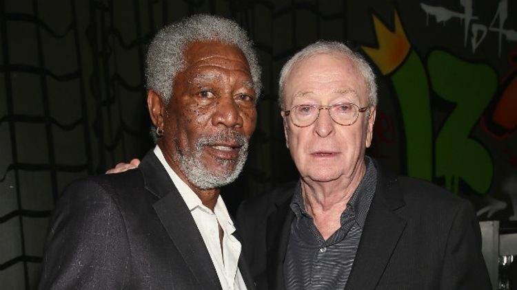 Morgan Freeman and Michael Caine