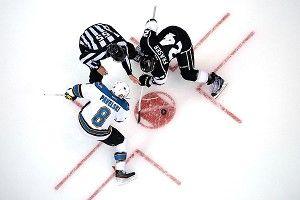 Joe Pavelski #8 of the San Jose Sharks