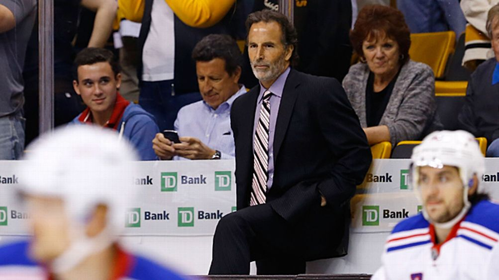 Head coach John Tortorella of the New York Rangers