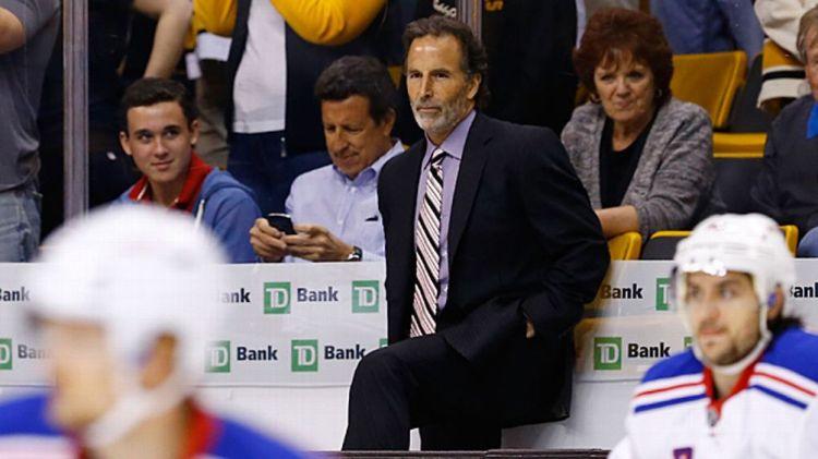Head coach John Tortorella of the New York Rangers