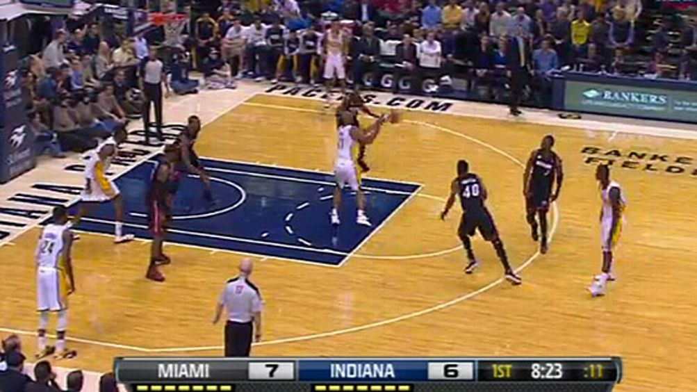 David West - Heat v. Pacers