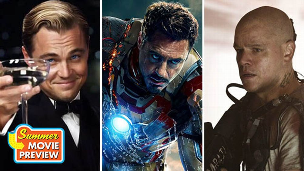 The Great Gatsby, Iron Man 3, Elysium