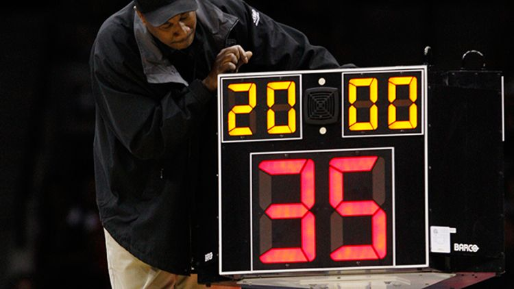 NCAA shot clock
