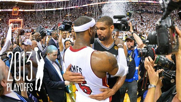 LeBron James and Tim Duncan