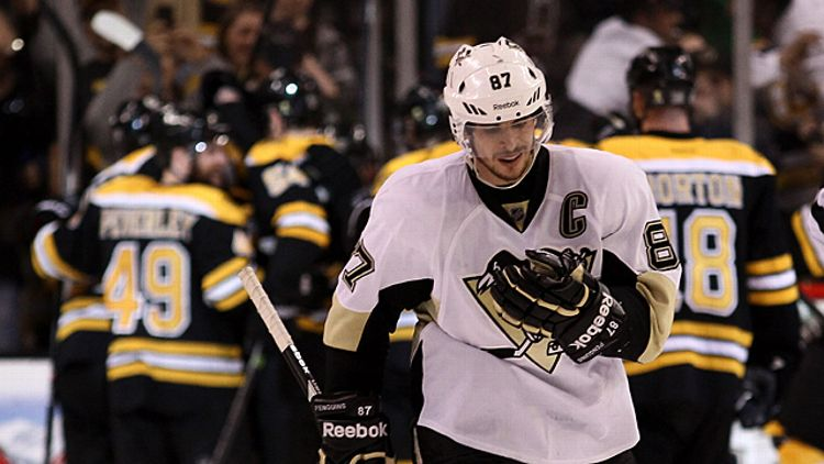 Sidney Crosby #87 of the Pittsburgh Penguins