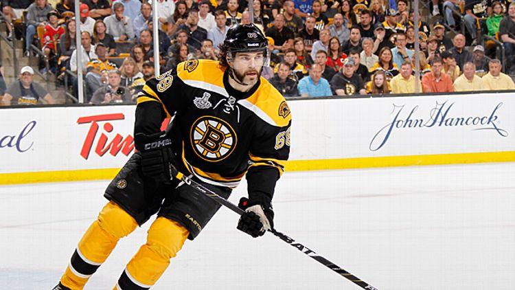 Jaromir Jagr #68 of the Boston Bruins