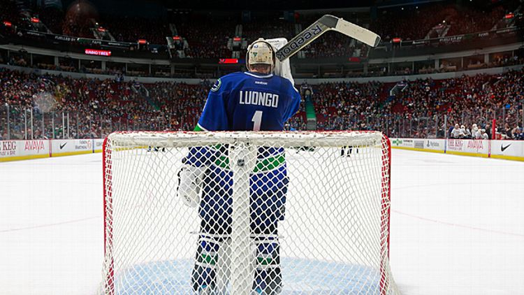 Roberto Luongo #1 of the Vancouver Canucks