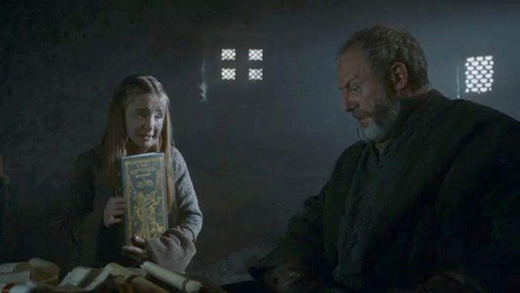 Ser Davos and Shireen Baratheon on 'Game of Thrones'