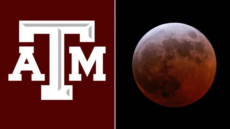 Moon: The red colouring arises because of the scattering of sunlight in the Earth's atmosphere. Sunlight reaching the Moon must pass through a long and dense layer of the Earth's atmosphere, where it is scattered by dust particles. Shorter wavelengths are