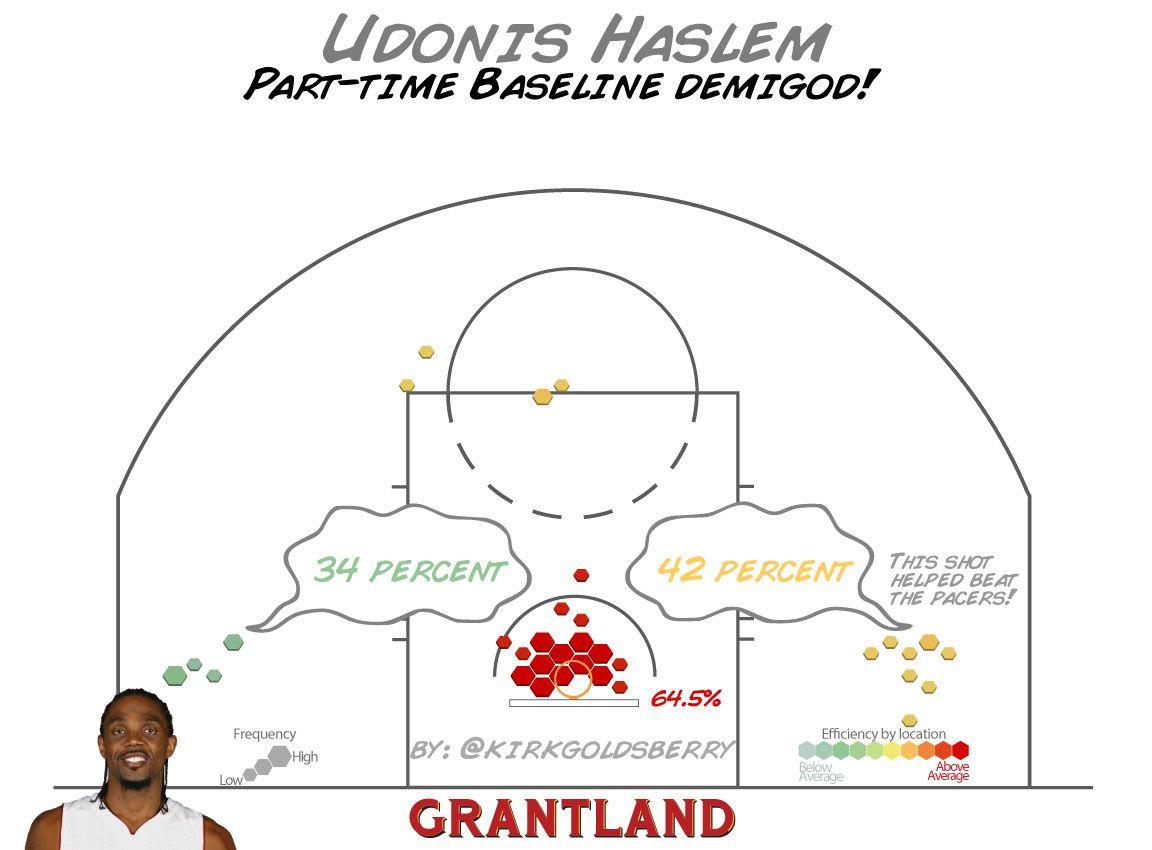 Udonis Haslem Shot Chart - Kirk Goldsberry/Grantland