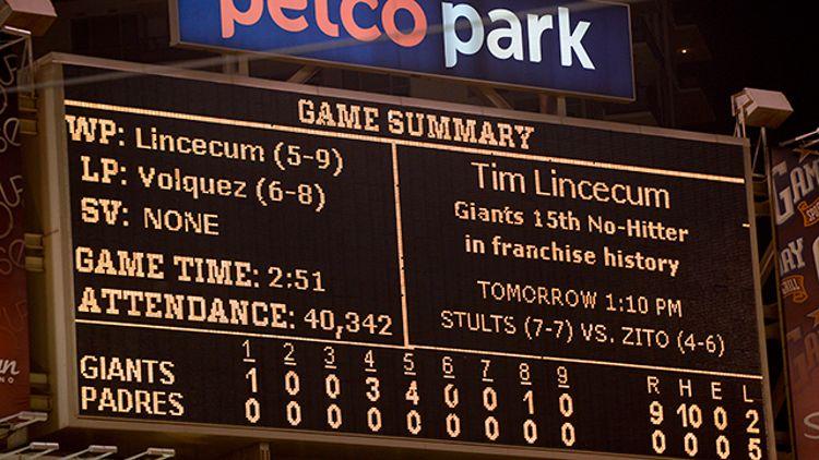 Giants scoreboard