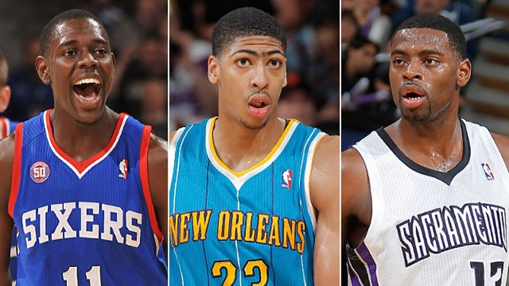 Jrue Holiday, Anthony Davis & Tyreke Evans